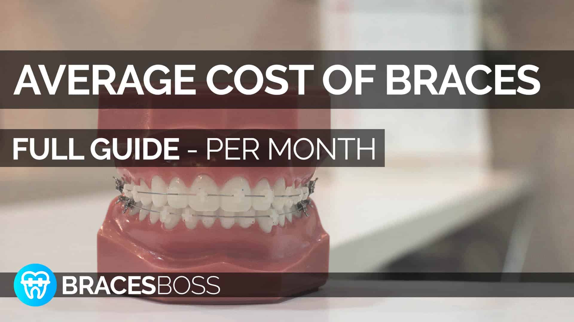 average cost of braces per month